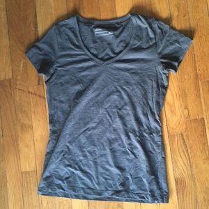 Eddie Bauer T-shirt dark gray v-neck NWOT XS